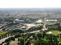 Grote slag in het park van Melbourne Stock Afbeelding