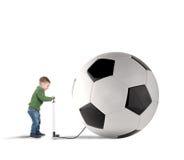Grote soccerball royalty-vrije stock fotografie