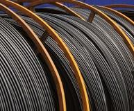 Grote spoelen van elektrische kabel Royalty-vrije Stock Fotografie