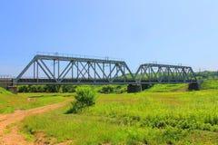 Grote spoorwegbrug Royalty-vrije Stock Foto