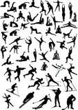 Grote sportmanneninzameling stock illustratie