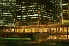 Grote Stad bij Nacht Royalty-vrije Stock Afbeeldingen