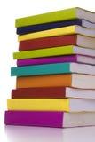 Grote stapel boeken Stock Afbeeldingen
