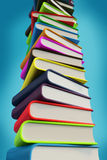 Grote stapel van 3d boeken Stock Foto's