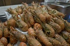Grote stapel van gekookte zeekreeft Royalty-vrije Stock Afbeeldingen