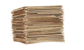 Grote stapel van oude brieven en prentbriefkaaren Royalty-vrije Stock Afbeelding
