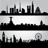 Grote steden Stock Afbeelding