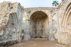 Grote Steenkerk van de Opdracht San Juan Capistrano in Californië stock foto