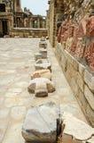 Grote stenen bij oude oude de bouw structuur Royalty-vrije Stock Afbeelding