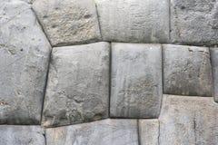 Grote stenen, Saqsaywaman Cusco Peru stock fotografie