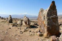 Grote stenen in Zorats Karer armenië stock foto's