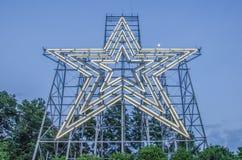 Grote ster van een sterstad roanoke Virginia Royalty-vrije Stock Afbeeldingen