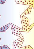 Grote sterren op gradiëntrug stock illustratie