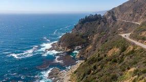 Grote Sur, Californië van hierboven stock foto's
