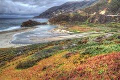 Grote Sur, het landschap van Californië Stock Foto's