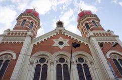 Grote synagoge in Pilsen Royalty-vrije Stock Fotografie