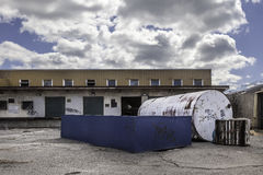 Grote Tank voor Ladingsdokken Stock Foto's