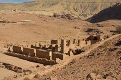Grote Tempel, Petra Royalty-vrije Stock Foto