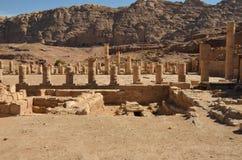 Grote Tempel, Petra Royalty-vrije Stock Afbeelding