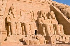 Grote Tempel van Abu Simbel - Egypte stock foto