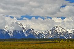 Grote Tetons in Wyoming stock afbeeldingen