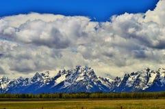 Grote Tetons in Wyoming stock fotografie