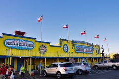 Grote Texan Lapje vleesboerderij, beroemd steakhouserestaurant royalty-vrije stock afbeeldingen