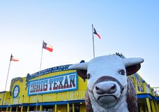 Grote Texan Lapje vleesboerderij, beroemd steakhouserestaurant stock afbeelding