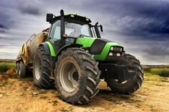 Grote tractor Royalty-vrije Stock Afbeelding