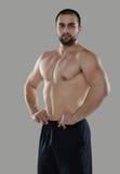 Grote training Portret van spier professionele bodybuilder en Royalty-vrije Stock Foto's