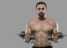 Grote training Portret van spier professionele bodybuilder en Royalty-vrije Stock Fotografie