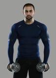 Grote training Portret van spier professionele bodybuilder en Royalty-vrije Stock Foto
