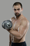 Grote training Portret van spier professionele bodybuilder en Stock Fotografie