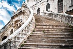 Grote treden van de kerk Stock Foto's