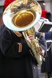 Grote Tuba Player Stock Afbeelding
