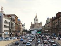 Grote Tuin (Bolshaya Sadovaya) straat in Moskou Royalty-vrije Stock Foto's