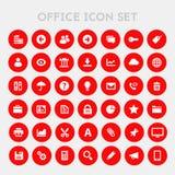 Grote UI, UX en de reeks van het Bureaupictogram Stock Afbeeldingen