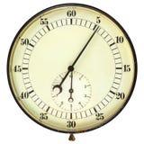 Grote uitstekende die chronometer op wit wordt geïsoleerd Stock Afbeelding