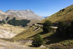 Grote Vallei, Monti Sibillini Royalty-vrije Stock Fotografie