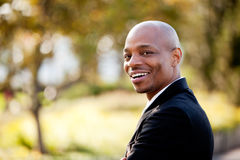 Grote Van de Bedrijfs glimlach Mens Royalty-vrije Stock Foto's