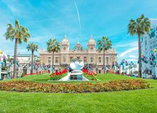Grote van het oriëntatiepuntmonaco van Casinomonte carlo Franse riviera royalty-vrije stock afbeelding