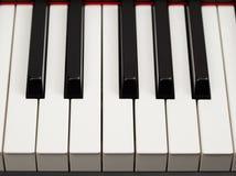 Grote van het pianoebbehout en ivoor sleutels Stock Afbeeldingen