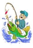 Grote Vangst stock illustratie