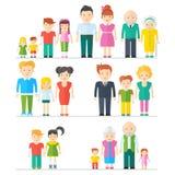 Grote vastgestelde familie royalty-vrije illustratie