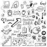Grote vastgestelde od bedrijfskrabbels, hand getrokken pictogrammen vector illustratie
