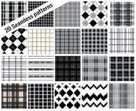 Grote vastgestelde patronen, plaidstijl, patroonmonsters inbegrepen voor IL royalty-vrije illustratie
