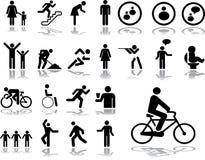 Grote vastgestelde pictogrammen - 3. Mensen Stock Foto