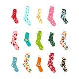 Grote vastgestelde sokken voor al gelegenheden en de voorraad stock illustratie