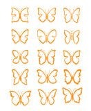 Grote vastgestelde vlinder Stock Foto's