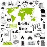 Grote Vectorreeks Milieu Royalty-vrije Stock Afbeeldingen